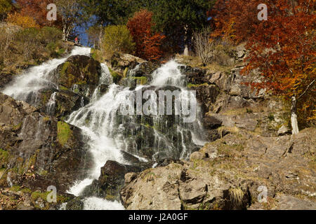 The Todtnau Waterfall in the Black Forest is the highest natural waterfall in Germany. - Stock Photo