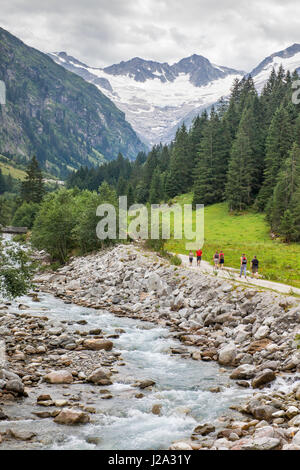 Mountain stream in the Zillertaller Alps in Austria - Stock Photo