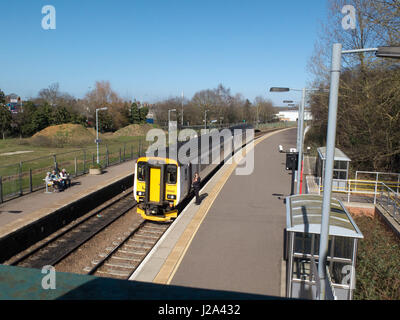 Beccles Rail Station Suffolk England - Stock Photo