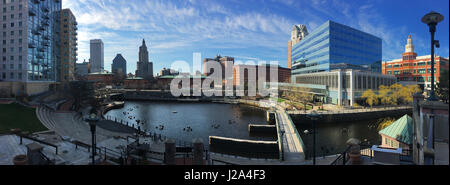 A Panorama of downtown Providence, Rhode Island - Stock Photo
