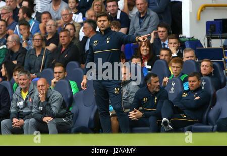 Tottenham's Manager Mauricio Pochettino during the Premier League match between Tottenham Hotspur and Sunderland - Stock Photo
