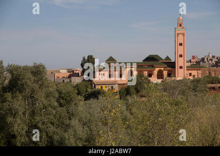 Morocco, Marrakech. Arched doors and windows of a countryside Mosque near Tinmal. - Stock Photo
