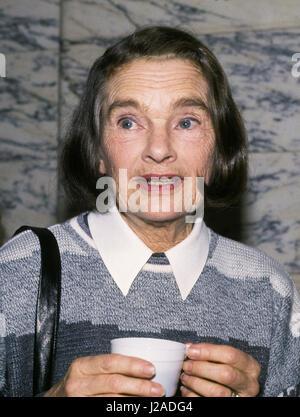 EVA HENNING Swedish Norwegian actress at Royal theater Dramaten 1988 - Stock Photo