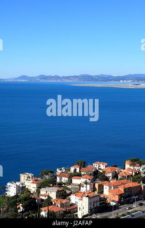 Nice, Cap de Nice, vue generale, Alpes-Maritimes, 06, Cote d'Azur, PACA, France - Stock Photo