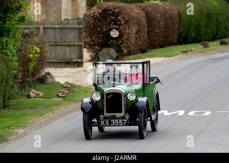 Austin Seven car on a country road, Gloucestershire, UK - Stock Photo