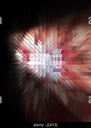 Nice multicolored geometric abstraction for fantasy and projects on dark background - Stock Photo