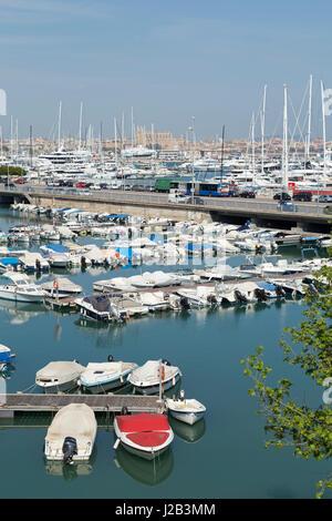 marina in Palma de Mallorca, Spain - Stock Photo