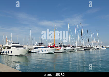 marina in Palma de Mallorca, Spain - Stock Photo