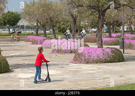 Parc de la Mar in Palma de Mallorca, Spain - Stock Photo