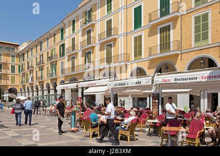 Placa Major in Palma de Mallorca, Spain - Stock Photo
