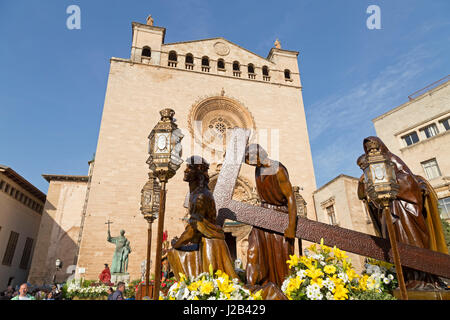 Basilica de Sant Francesc in Palma de Mallorca, Spain - Stock Photo