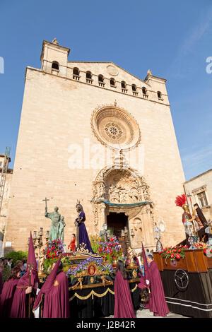 Basilica de Sant Francesc in Palma de Mallorca, Spain - Stock Photo