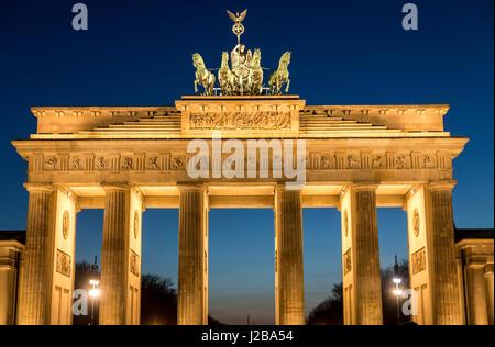 The Brandenburg Gate, in Berlin, Germany, - Stock Photo