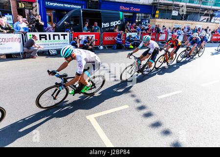 Tour de France in Yorkshire UK Tour De Yorkshire Professional cycling professional cyclists cyclists riders racing - Stock Photo