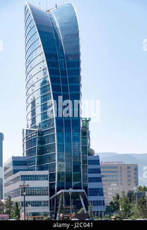 Mongolia, Ulaanbaatar. Blue Sky Tower. - Stock Photo