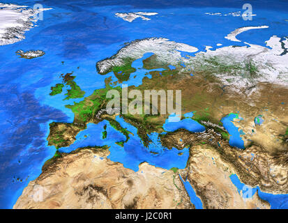 Satellite Map Of The Middle East Earth From Space Stock Photo - Middle east satellite map