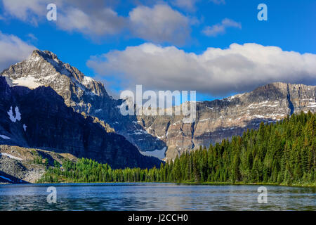 The Marshall (l) and Mount Watson (R) and Cerulean Lake - Stock Photo