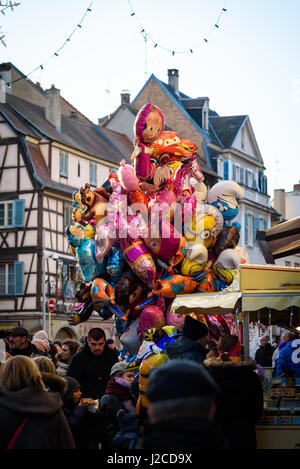 France, Grand Est, Colmar, Christmas market, Christmas in Alsace is known under the slogan 'Noel en Alsace' - Stock Photo