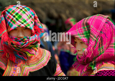 Asia, North Vietnam, Montagnard Women - Stock Photo