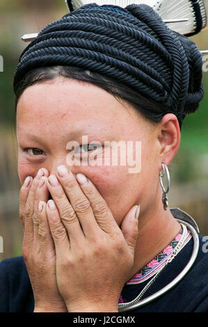 Asia, North Vietnam, Montagnard Woman - Stock Photo