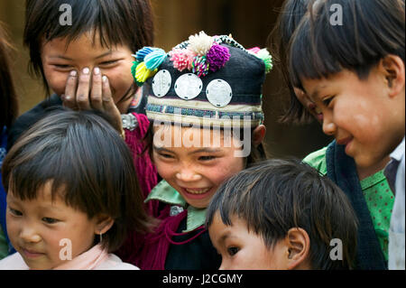Asia, North Vietnam, Montagnard Children - Stock Photo