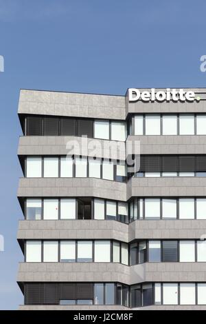 Lyon, France - March 15, 2017: Deloitte building in Lyon, France. Deloitte is one of the Big 4  accounting firms - Stock Photo