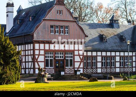 brustungsgelander municipal library in half timbered house bad nauheim hesse germany stock ideas of reference schizotypal