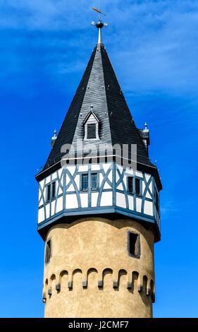 The Bockenheimer Warte Tower ( Wartturm) in Frankfurt am Main, Germany - Stock Photo