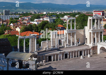 Bulgaria, Southern Mountains, Plovdiv, Old Plovdiv, Roman Amphitheater - Stock Photo
