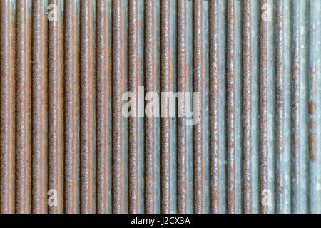 Old rusty texture of corrugated metal. Rusted galvanized iron plate - Stock Photo
