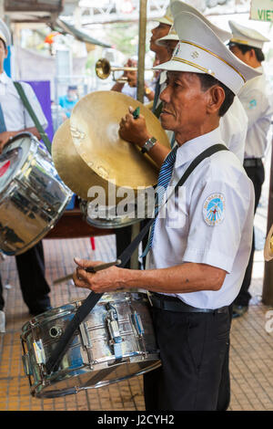 Vietnam, Sa Dec. Small band - Stock Photo