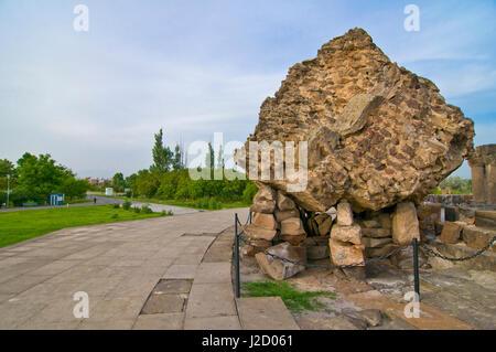 Zvartnots Cathedral, UNESCO World Heritage Site, Zvartnots, Armenia - Stock Photo