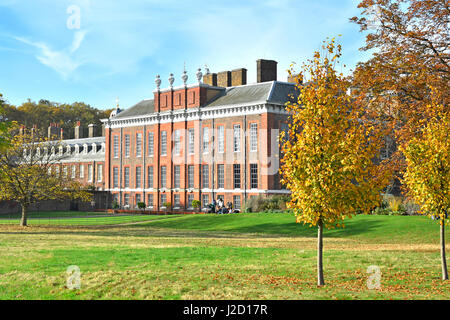 Exterior view of the royal residence of Kensington Palace London England UK in Kensington Gardens Royal Park with - Stock Photo