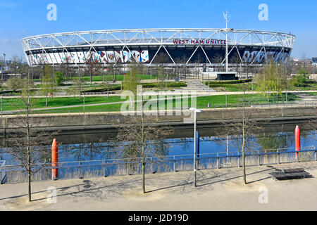 Queen Elizabeth Olympic Park  Newham Stratford UK converted London 2012 Olympic stadium now football stadium rented - Stock Photo