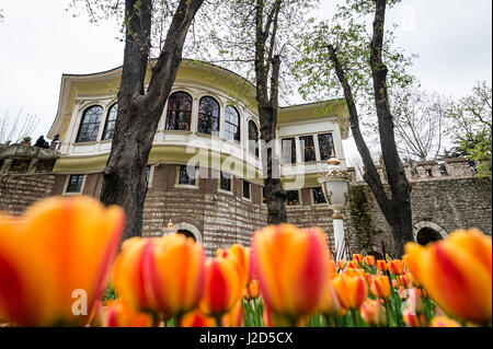 Istanbul, Turkey - April 12, 2017: Ahmet Hamdi Tanpinar Literature Museum Library in Gulhane park, Istanbul - Stock Photo