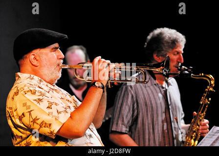 Tribute to Jaco Pastorius' -USA (Randy Brecker, Bob Mintzer, Mitch Forman, Krzysztof Zawadzki,Jeff Andrews, - Stock Photo