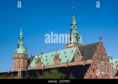 Denmark, Zealand, Hillerod, Frederiksborg Castle, exterior - Stock Photo