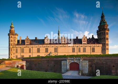 Denmark, Zealand, Helsingor, Kronborg Castle, also known as Elsinore Castle, from Shakespeare's Hamlet - Stock Photo
