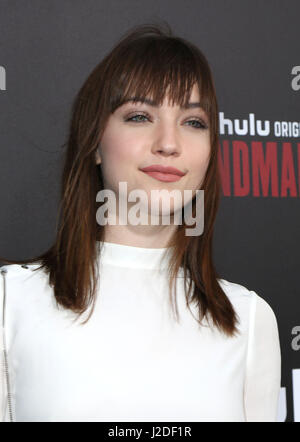 Hollywood, CA, USA. 25th Apr, 2017. 25 April 2017 - Hollywood, California - Violett Beane. Los Angeles premiere - Stock Photo