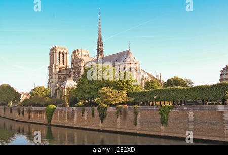 The Notre Dame Cathedral , Paris, France. - Stock Photo