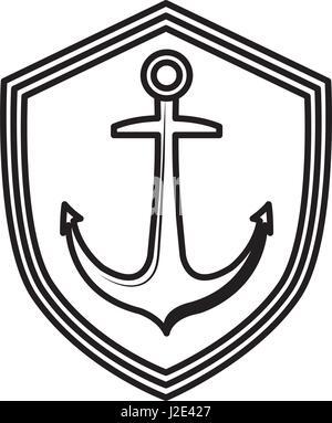 Anchor marine symbol - Stock Photo