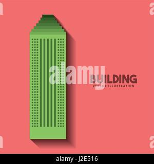 big building isolated icon - Stock Photo