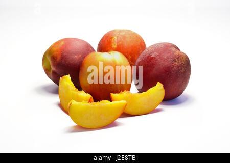 Sliced juicy netarines source of healthy vitamin - Stock Photo