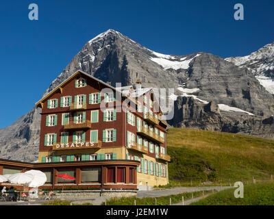 hotel bellevue des alpes kleine scheidegg mountain pass between stock photo royalty free. Black Bedroom Furniture Sets. Home Design Ideas