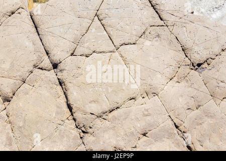 Flysch texture detail in Strait gibraltar - Stock Photo