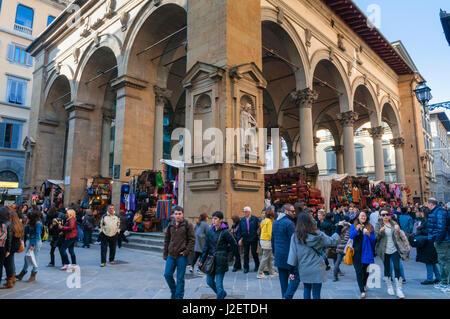 Loggia dei Mercanti, Unesco World Heritage site, Firenze, Tuscany, Italy - Stock Photo