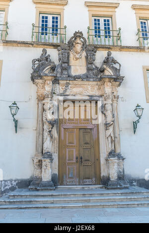 Portugal, Coimbra, Coimbra University, library door (Large format sizes available) - Stock Photo