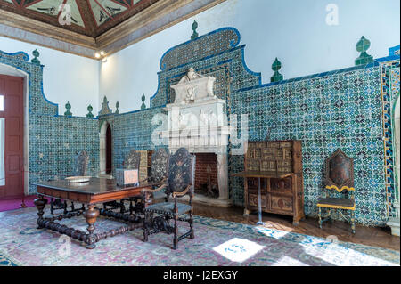 Europe, Portugal, Sintra, Sintra National Palace, The Magpie Room - Stock Photo