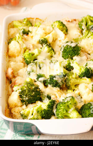 Dual cabbage casserole with chicken and quinoa - Stock Photo