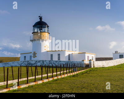 Fair Isle. in the far north of Scotland. North Lighthouse, built ...